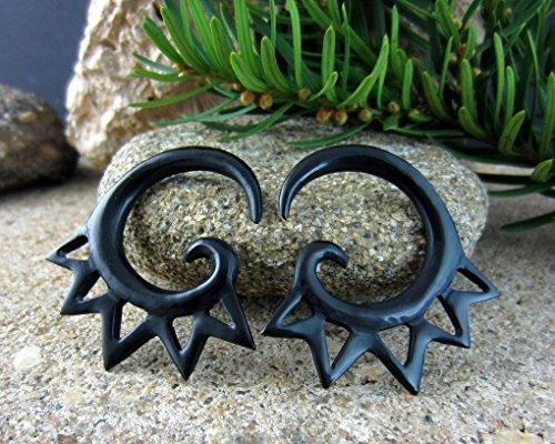 - 4G Bull Horn Tribal Gauges Handmade Tapers Stretchers