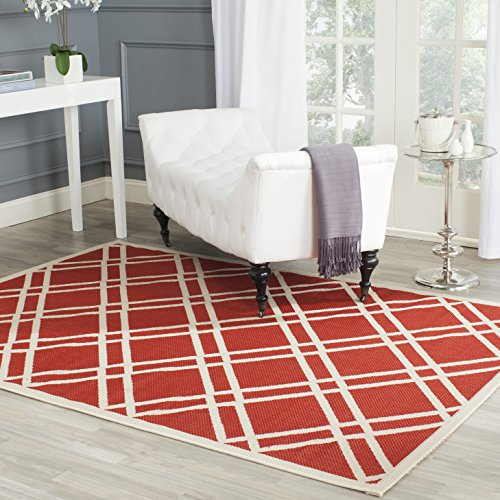 (Safavieh Courtyard Collection CY6923-248 Red and Bone Indoor/ Outdoor Area Rug (8' x 11'))