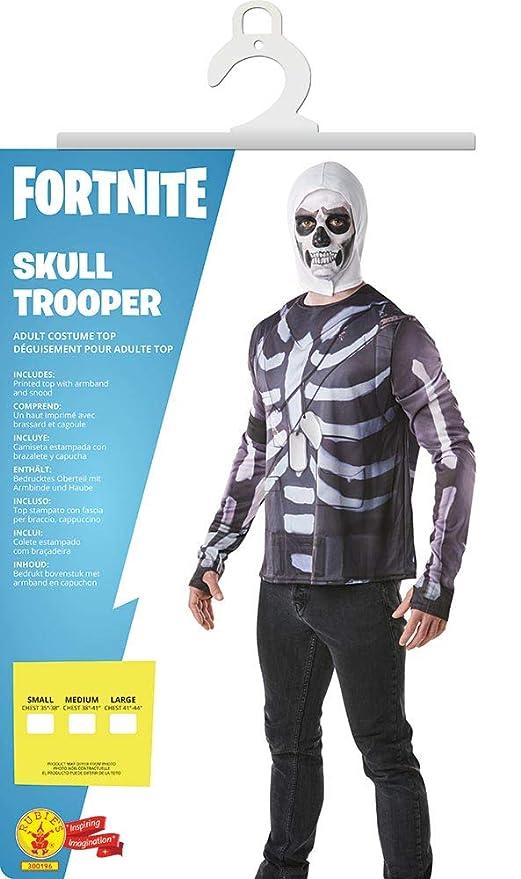 Fortnite - Disfraz camiseta Skull Trooper para adulto, Talla ...