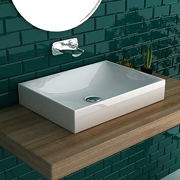 bad1a Vasque en céramique pour Salle de Bain Blanc: Amazon.fr ...