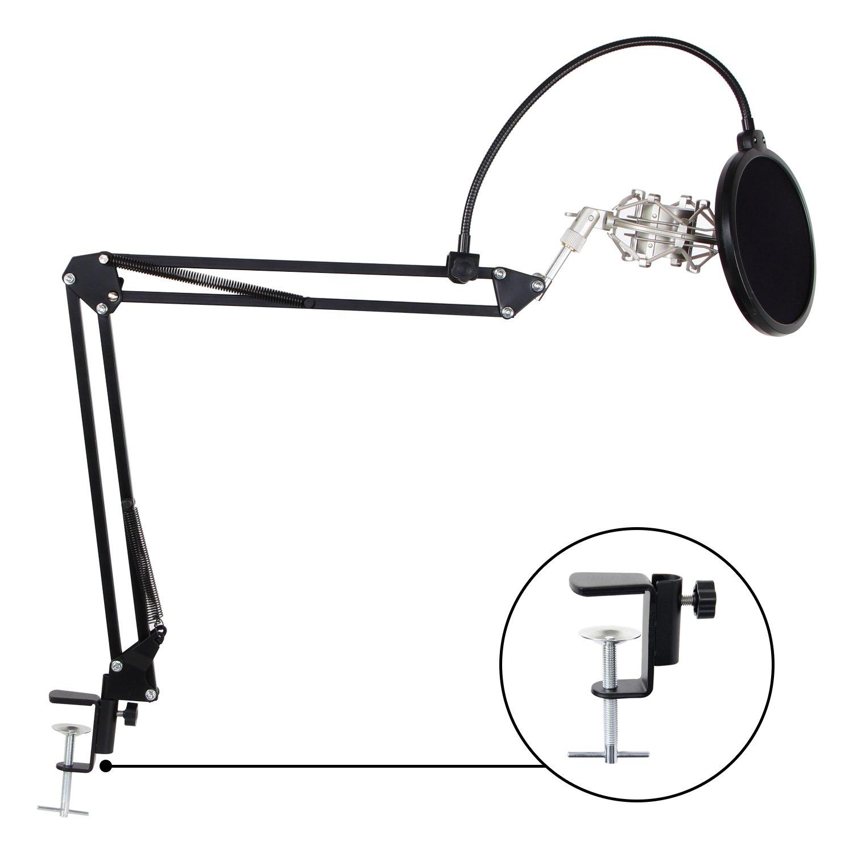 TONOR 48V Alimentation Fantôme avec Câble USB XLR pour Équipement d'Enregistrement de Musique de Microphone à Condensateur