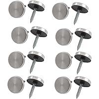 8 PCs 14mm Dia Roestvrij staal Decoratieve Spiegel Schroef Cap Nagels