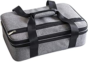 Insulated Double Casserole Carrier, Padded Lasagna Holder, Expandable Hot And Cold Thermal Tote Bag, Casserole Dishes Travel Bag For Picnic Potluck Beach Day Trip Camping Hiking