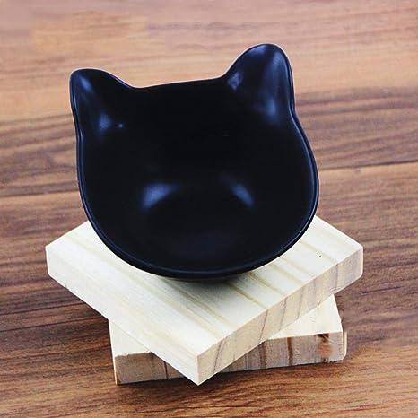 Daeou Cuenco de Mascotas Mini tazón de Fuente del Animal doméstico oído de Gato Gato Joven