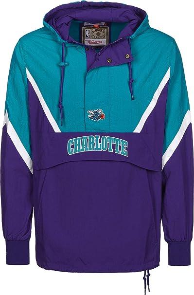 Mitchell & Ness Half Zip Charlotte Hornets Chaqueta ...