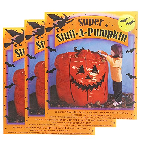 Super Stuff A Pumpkin Leaf Bags - 3 Pack