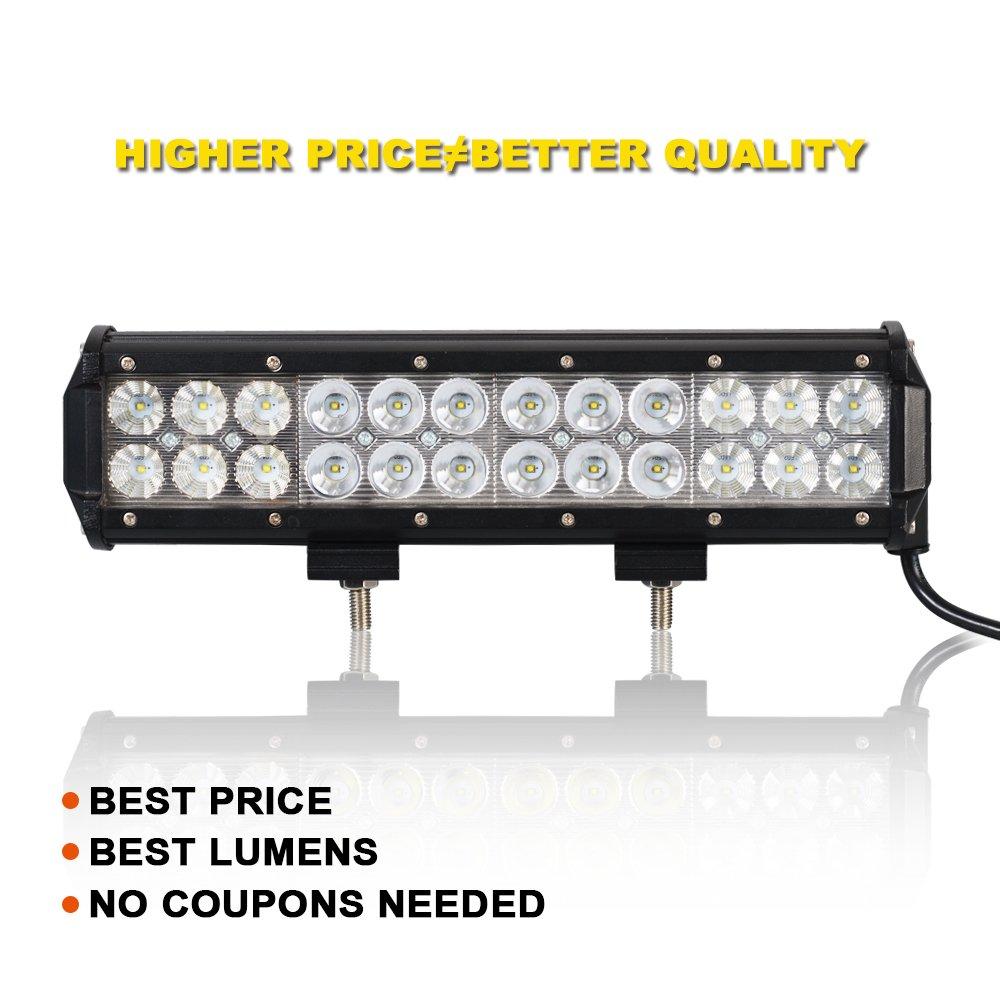 "72W Yamaha Kodiak 450 FOR 12/"" LED LIGHT BAR Bumper Grill Quad Ram Carolina"