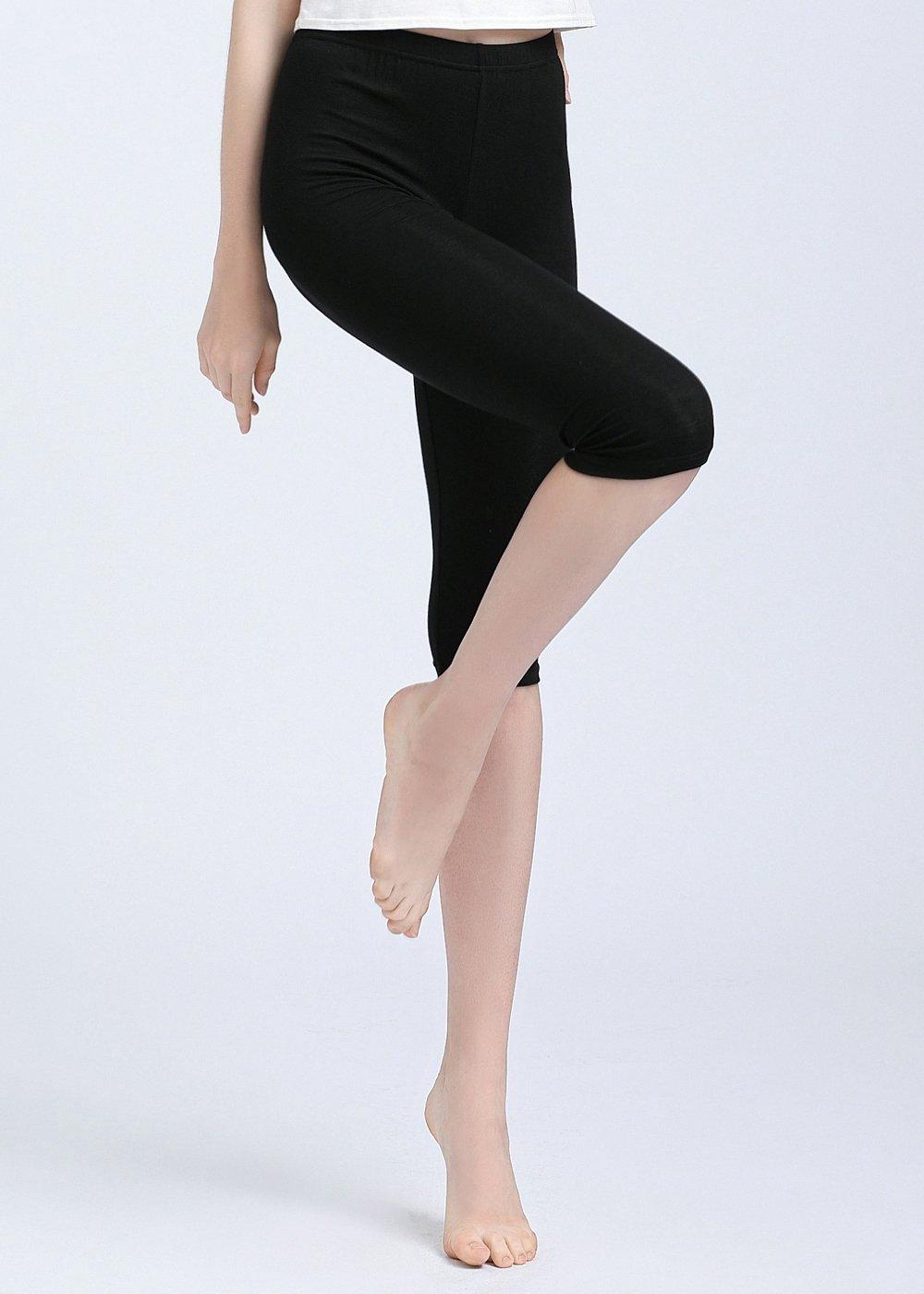 Vinconie Women Activewear Capris Stretchy Exercises Sexy Workout Leggings Soft by Vinconie (Image #4)