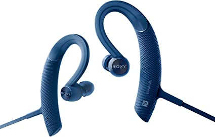 Amazon Com Sony Mdr Xb80bs Blue Premium Waterproof Bluetooth Wireless Extra Bass Sports In Ear 7 Hr Of Playback Headphones Microphone International Version Home Audio Theater