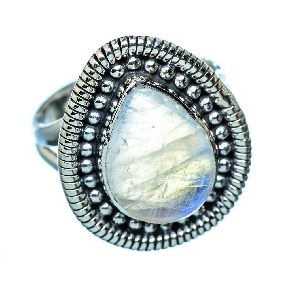 Bohemian Ana Silver Co Rainbow Moonstone Ring Size 7 Vintage RING942428 925 Sterling Silver - Handmade Jewelry
