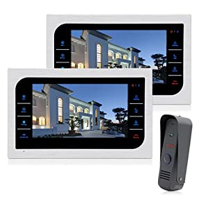 JeaTone 10 Inch TFT Wired Video Door Phone Intercom Security Camera Doorbell Home Security Camera System 32GB SD Card Video Record Monitor Door Video Camera Best Selling