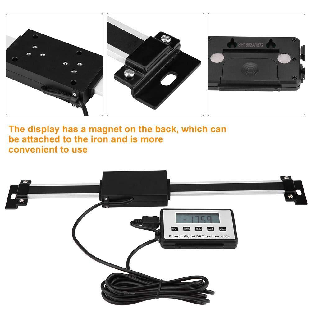 0-300mm Kit di lettura LCD con scala lineare digitale per misurazioni accurate per macchine di fresatura Torni Velocit/à di risposta rapida di 3 m//s