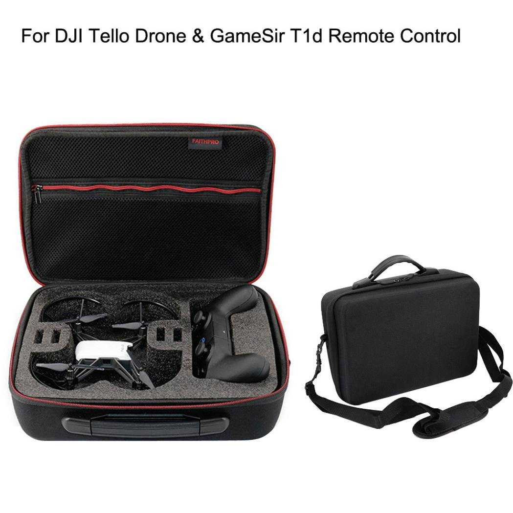 Ounice Shoulder Bag Case Box Protector For DJI Tello Drone & GameSir T1d Remote Control
