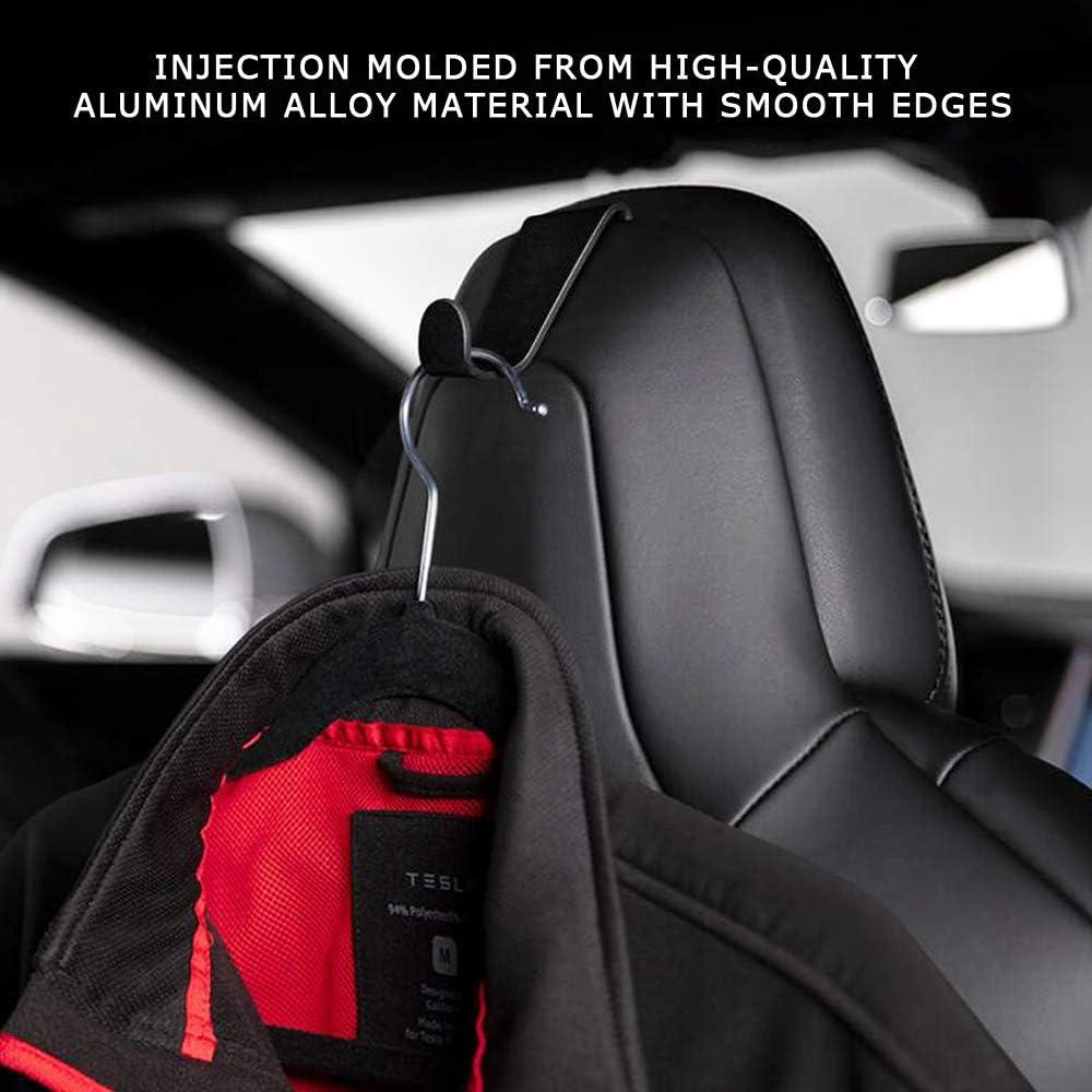 No Logo for Model S X 3 CoolKo Coat Hooks Aluminum Alloy Seat Headrest Back Hook Bag Holder