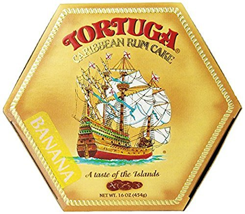 TORTUGA Caribbean Banana Rum Cake - 16 oz. - The Perfect Premium Gourmet Gift