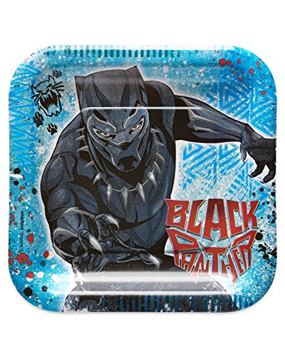 American Greetings Black Panther Dessert Plates for cheap