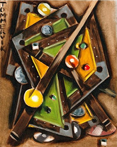Amazon.com: Tommervik Abstract Cubism Pool Table Art Billiard Wall ...
