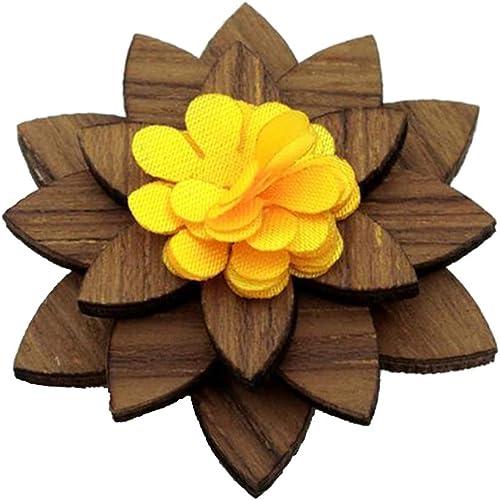 Harilla Vintage Herren Holz Revers Blume Holz Brosche Pin
