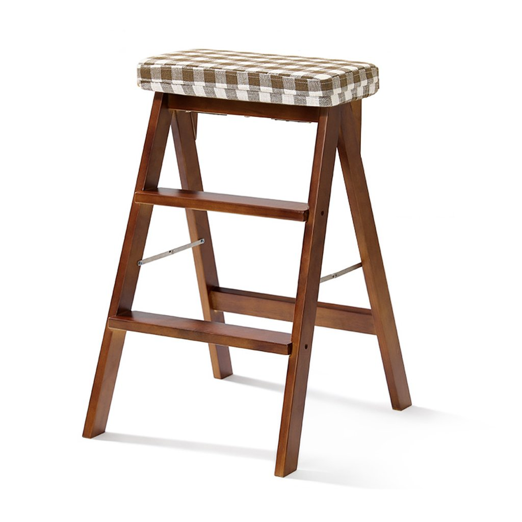 G 402064cm Solid Wood Stool Home Ladder Stool Simple Modern Portable Folding Stool Multifunctional Creative Kitchen high Stool (color   S, Size   40  20  64cm)