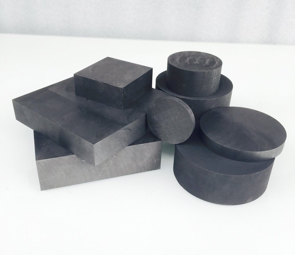 OTOOLWORLD 99.9/% Purity Graphite Ingot Block EDM Graphite Plate Milling Surface 40MMx5MM