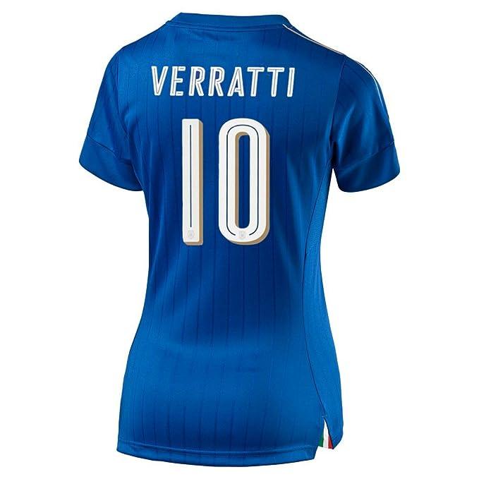 Puma Verratti   10 Italia Jersey de Futbol Femenino 2015 (S)  Amazon ... b96470a3722d4