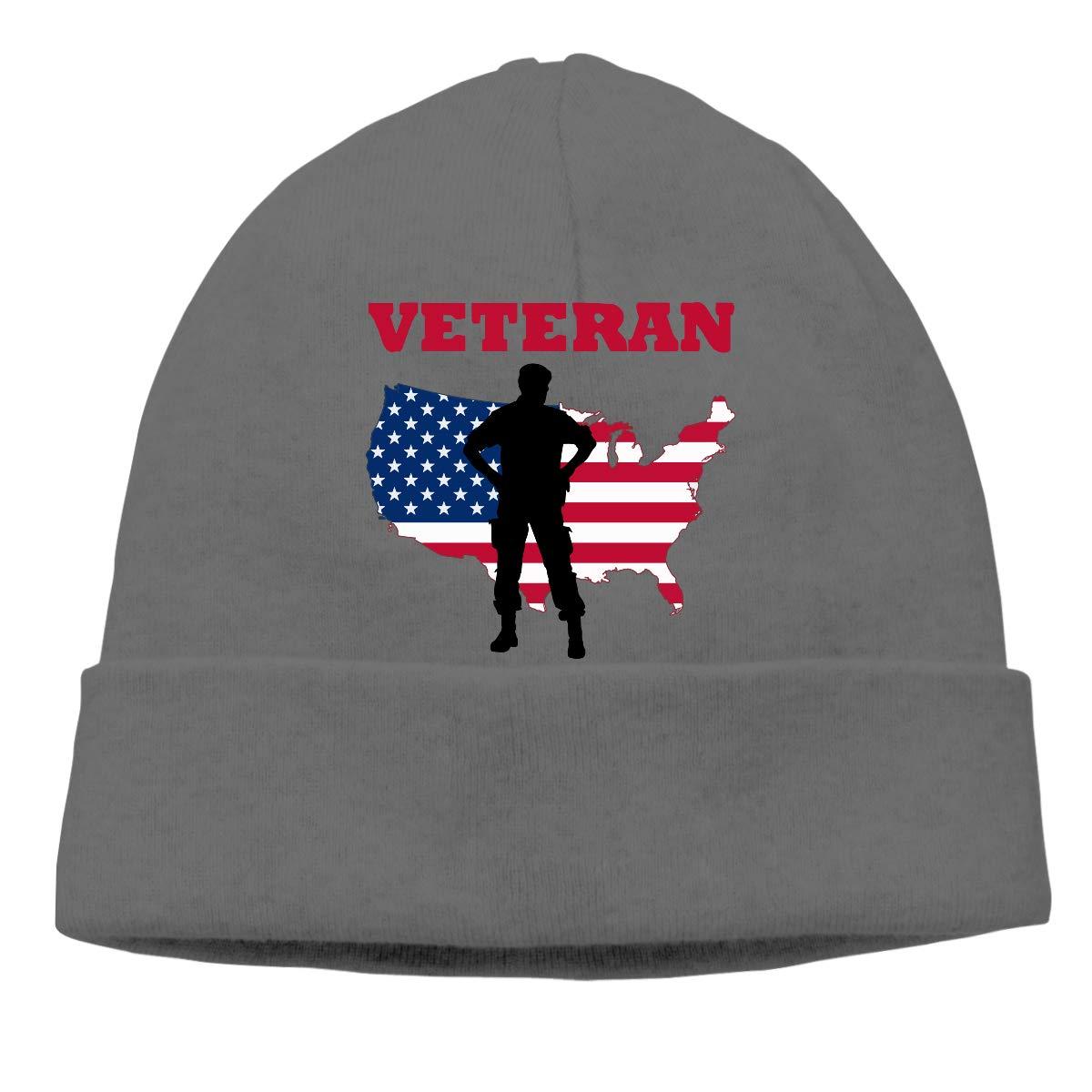 American Veteran Soldier Map 1 Women and Men Quick Dry Sports Beanie Skull Cap