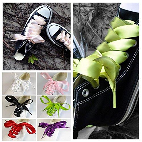 Tinksky 4 Paia Di Lacci Di Seta Scarpe Fai Da Te Decorazione Per Scarpe Da Ginnastica Sandalo (colori Della Caramella)
