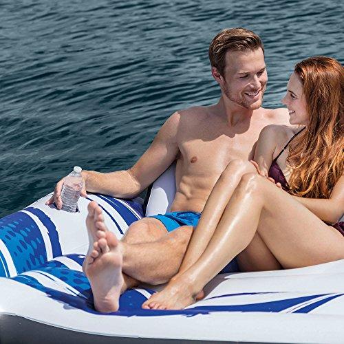 Intex Blue Tropical Island 5 Seat Floating Lounge Raft w/ 4 Cup Holders | 5727EP by Intex (Image #5)