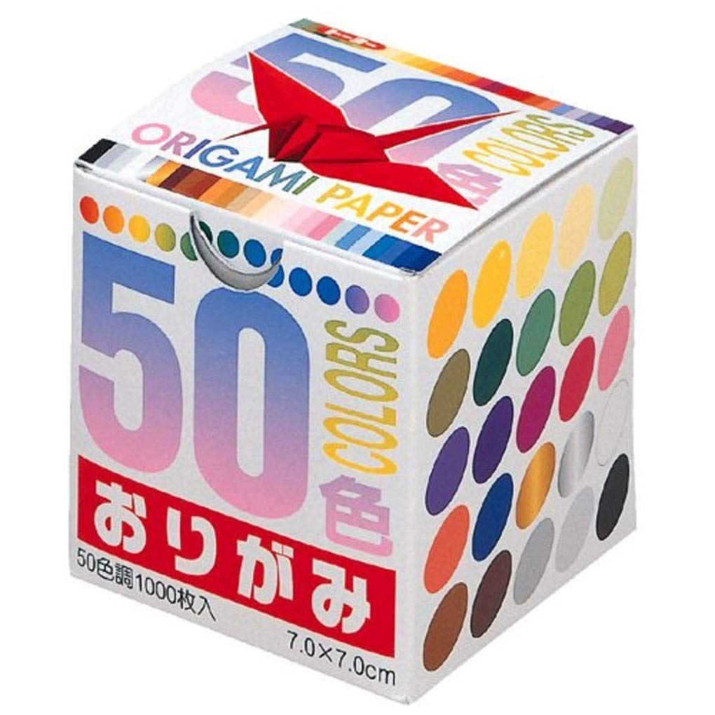 Toyo Thousand Paper Cranes Origami 7cm, 50 Colors, 1000 Sheets 001024