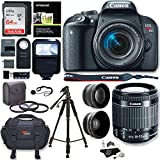 Canon EOS Rebel T7i Camera, EF-S 18-55 IS STM Lens Kit, Lexar 64GB, Ritz Gear Premium SLR Camera Bag, Filter Kit, Flash and Accessory Bundle