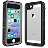 Smilenut Waterproof iPhone 5/5S/SE Case With Built-In Screen Protector Underwater Full Body Apple Phone Shell Case – Clear Protective iPhone 5 5S SE Case With Military Tested Shockproof Design