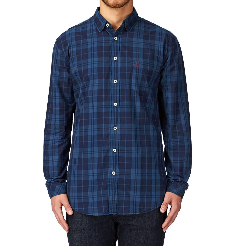 Joules Lyndhurst Poplin Shirt In Blue Tartan