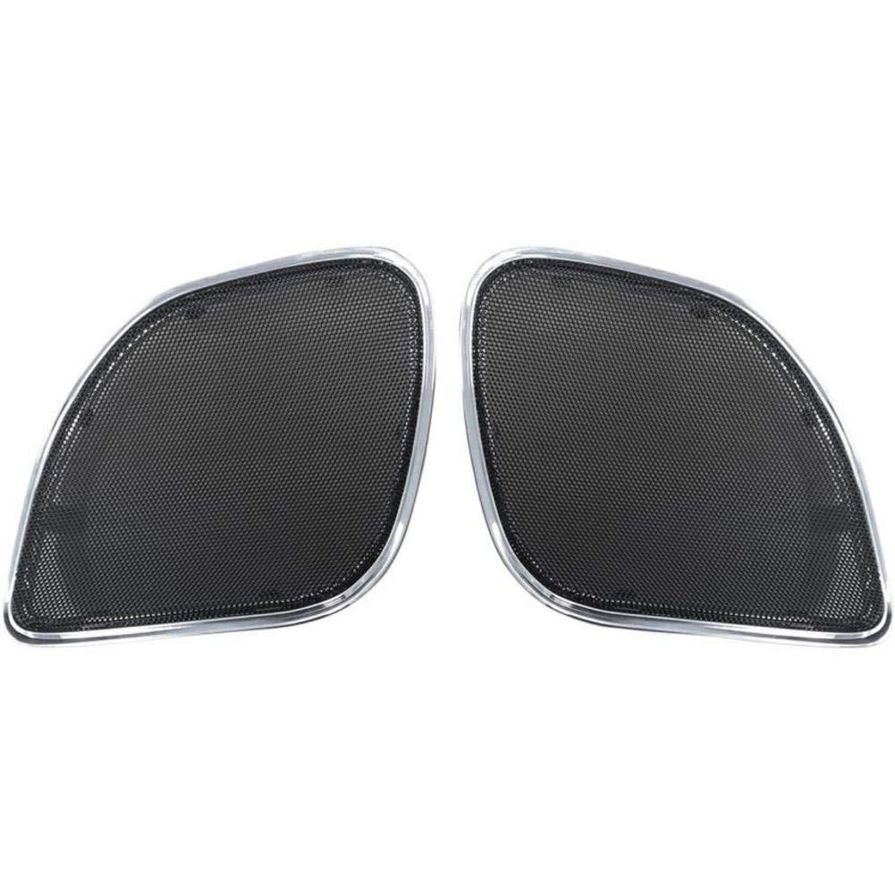 Hogtunes RG RM C Chrome Trim Replacement Front Speaker Grilles for 2015-2016 Harley-Davidson FLTR Road Glide Models
