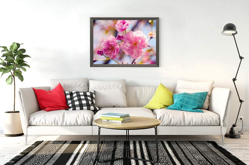 DIY 5D Diamond Painting Kits Spring Blossom Background Beautiful Nature Scene Blooming Tree Full Drill Embroidery with Diamond for Home Wall Decor Gift 14X20 Inch