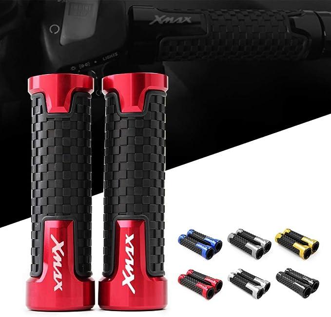 Pu/ños Acoples de Manillar Motocicleta Universal 7//8 22 mm Aluminio Para Yamaha xmax300 X-max 300 Xmax 125 250 400
