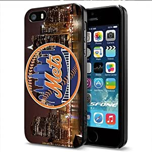 MLB New York Mets Apple Smartphone iPhone 5 5S Case Cover Collector Black Hard Cases by mcsharks