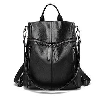 5465f854f7e1 Genuine Leather Backpack for Women/Girls Schoolbag Casual Daypack Travel  Shoulders Bag fit 12