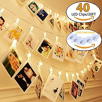 KAZOKU LED String Lights, Waterproof Dimmable Decorative Fairy Lights with Remote Control, Christmas Lights with UL Listed for Bedroom, Patio, Wedding and Party