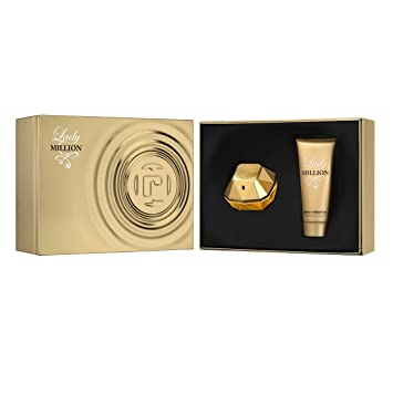 Amazon.com : PACO RABANNE Lady Million Gift Set: EDP spray 2.7 oz+ ...
