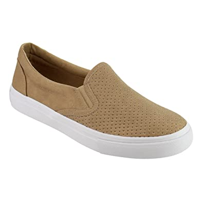 2aef5cec00a3 SODA IF14 Women s Perforated Slip On Elastic Panel Athletic Fashion Sneaker