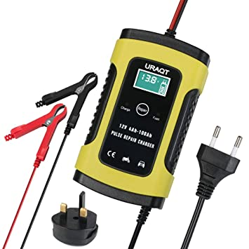 Batterie Ladegerät Auto, 6A 12V Batterieladegerät Auto Erhaltungsladegerät mit Mehrfachschutz für Autobatterie, Motorrad, Ras