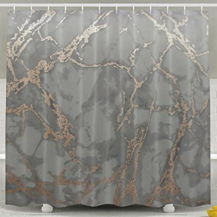 NNHKY Fabric Polyester Shower Curtain