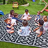 SAND MINE Reversible Mats, Plastic Straw Rug, Fade