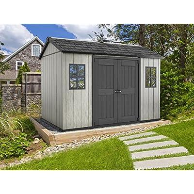 Keter-Oakland-Outdoor-Plastic-Garden-Storage-Shed-Grey-11-x-75-feet