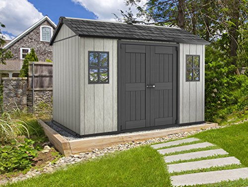 Keter-Oakland-Outdoor-Plastic-Garden-Storage-Shed-Grey-11-x-75-feet