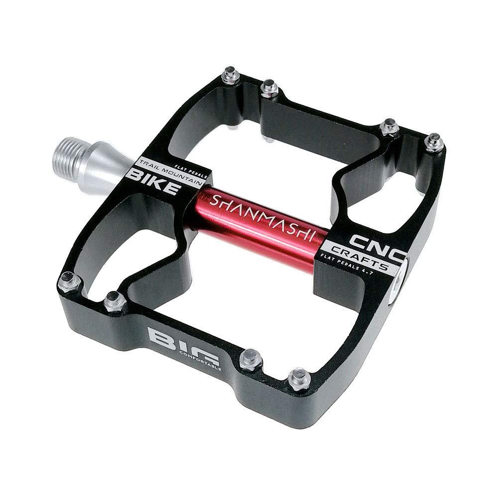 AUMING Mountainbike Fahrradpedale Rennrad Pedale MTB Peda Mountainbike Pedale 1 para Aluminiumlegierung Rutschfeste Durable Bike Pedale Oberfläche Für Straße BMX MTB Fahrrad 6 Farben (SMS-4.7)