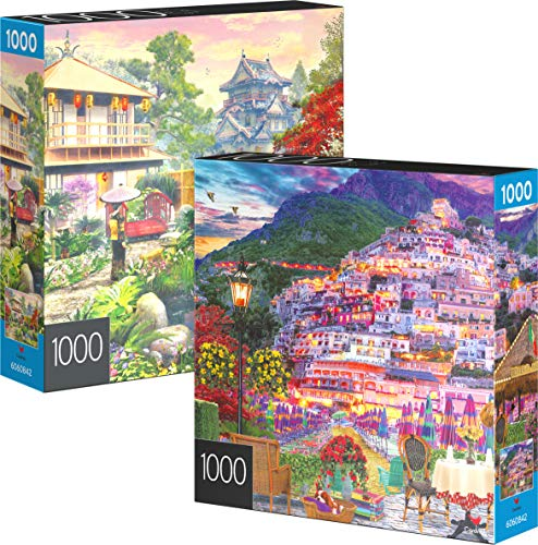 🥇 2-Pack of 1000-Piece Jigsaw Puzzles