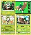 Pokémon - Decidueye Dartrix Rowlet Sun & Moon Evolution line set lot - Rare Plus Bonus random Code