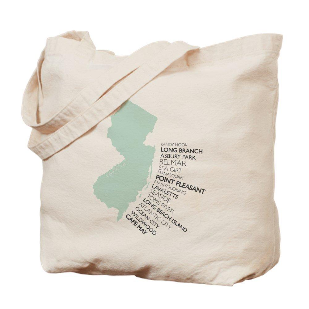 CafePress – NJ Shore – ナチュラルキャンバストートバッグ、布ショッピングバッグ M ベージュ 16950603006893C B073QTK25S MM