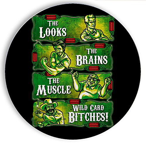 Ceramic Stone Coaster Coasters Set of Four - The Philly Crew - Parody Design (Best Irish Pubs In Philly)